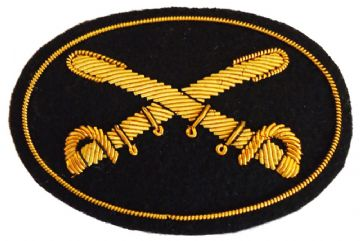 Cavalry Officers Deluxe Kepi Insignia Badge